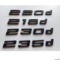 Noir 218D 220D 225D 225D 223D 230D Emblèmes Emblèmes Numéro arrière Lettres Badges Badges Sticker pour BMW 2 Série E10 E6 F22 F23 F86