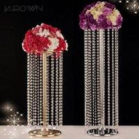 Dekorative Blumen Kränze Jarown Hochzeit Riesenrad Kristall Acryl Perlen T Bühne Straße Blei Hochzeiten Haupttisch Mittelstück Blume Stan