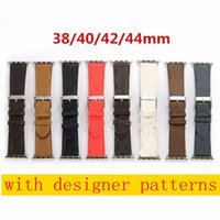 NUOVO cinturino in pelle di design per la serie di cinturini di apple 6 5 4 3 2 40 mm 44mm 38mm 42mm braccialetto per cinghia IWATCH B05