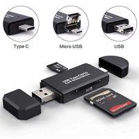 Lecteur de carte mémoire Type-C USB 2.0 OTG TF Micro SD Carte de mémoire Vecteur de la carte mémoire pour ordinateur MacBook Téléphone Android Téléphone Universal Smart Card Reader