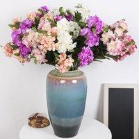الزهور الزهور تكاليل محاكاة ثلاثة برأس باونيا باقة المنزل الديكور أزهار الكرز خوخ الزفاف مكان تخطيط الدعائم النبات