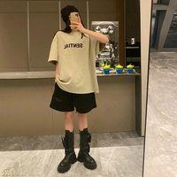 20sss 봄 여름 미국 3D 힙합 앞 실리콘 남성용 T 셔츠 스케이트 보드 Tshirt 남자 여성 반팔 캐주얼 티셔츠 F023
