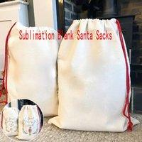 DHL Sublimation Leere Santa Sacks DIY Personalisierte Kordelzug Tasche Weihnachtsgeschenkbeutel Taschenwärmeübertragung