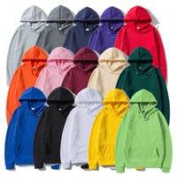 Okmjs Moda Marka erkek Hoodies 2021 Güz Kış Erkek Rahat Erkekler Hoodies Tişörtü Katı Renk Hoody Kazak Giyim Y0804 Tops