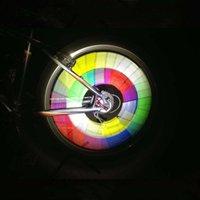 12 pçs / bolsa bicicleta bicicleta ciclismo raio refletor reflexivo segurança meia enchimento ldf668
