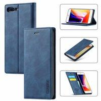 Flip Case iPhone 8 Artı 7 Artı Lüks Kitap Stil Çevirme PU Deri Manyetik Cüzdan Yumuşak TPU Telefon Kapak iphone SE 2020 7 8