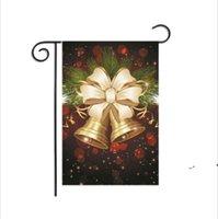 Flax de la bandera de la bandera del colgante de la Navidad Banner Feliz Navidad Adorno al aire libre Decoraciones de Navidad para el regalo de Navidad en casa RRE10204