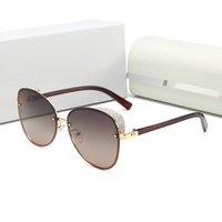 2021 Lüks Erkek Kadın Güneş Gözlüğü Yuvarlak Çerçeve Kalın Kenar Tasarımcısı Moda Yansıtıcı Renk Filmi Anti Ultraviyole Güneş Gözlükleri