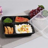 1000 ml jetable bento boîte de préparation conteneur de préparation alimentaire stockage pp emporter des boîtes d'emballage de nourriture de haute qualité jetables bento boîte KKA8347