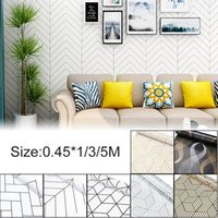 Wall Stickers 1 3 5M Geometric Hexagon Silver Peel And Stick Wallpaper Removable Self Adhesive Film Decor Home