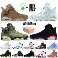 Stock x Nike Air Jordan 6 Jordan Retro 6 6s Travis Scott Jumpman 박스 2021 Carmine 남자 농구 화 적외선 토끼 테 크 놀 로 지 크롬 일 렉 트 로 닉 스 DMP 운동 화 를 매치