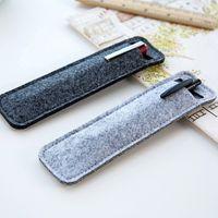 Simple Design Felt Pencil Case Mini Storage Bag Office Supplies School Stationery Pen Bag Case Business Gifts Promotional Gift