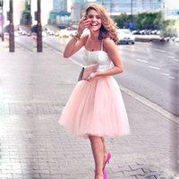 5 طبقات 60 سنتيمتر ميدي تول تنورة الأميرة إمرأة الكبار توتو أزياء الملابس faldas saia femininas jupe الصيف نمط 210225