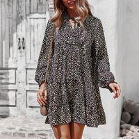 Casual Dresses ATUENDO Autumn Bohemian Solid Black Dress For Women Fashion Wedding Guest Maxi High Waist Soft Silk Long Robe