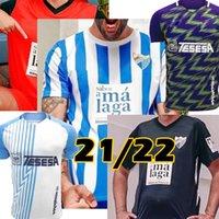 2021 2022 Málaga camisas de futebol Málaga 21/22 K. Bare Juanpi Adrian CF Camisa de futebol Juankar Camiseta de Fútbol Juande Mens Hombres uniformes