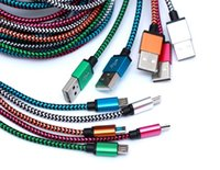 Type C Micro USB 3.1 Fabric Nylon Braid Cables for S20 Note20 Android Phone Lead Unbroken Metal Connector charger Cord