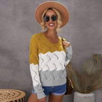 Shichao Winter New V-neck Pullover Sweater and Loose Casual Tops t Shirt for Women Cn(origin)