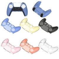 Для PS5 Soft Silicone Clear Case Cover Cover Controller Cover Cover Antislip Игра Аксессуары Смешать цвета