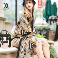 Dana Xu donna inverno moda sciarpa plaid spesso caldo poncho maglione cashmere pashmina sciarpe e stole coperta oversize wrap x0722