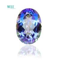 Cristal natural azul arco iris azul místico de cuarzo 20 * 15 * 10 mm 18CT Oval Mystic Crystal Titanium Recubrimiento DIY Colgante Pendiente Anillo de piedra H1015