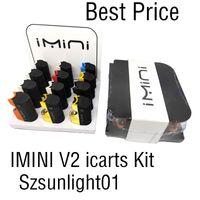 100% imini v2 icarts kit con cartuchos de 0.5 / 1.0ml precalentamiento de la batería MOD FIT LIRTY V1 V9 V14 AC1003 Vision Spinner