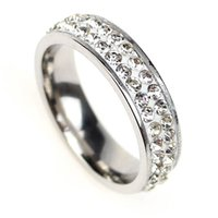 أعلى جودة 925 الفضة النمسا مكعب الزركون الماس كريستال خواتم الزفاف للنساء الفولاذ المقاوم للصدأ خاتم الخطوبة anillos Anel 138 U2