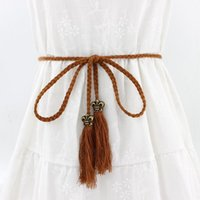 Belts 2021 Sell Pearl Kniited Belt Womens Style Candy Colors Rope Braid Female For Dress