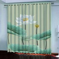 Cortina de altura de alta calidad Cortina de loto Lotus Lotus Sala de estar moderna creativa cortina cortina cortinas de moda drapas de dormitorio