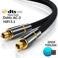 HIFI 5.1 Digital Optical Audio Cable Nylon SPDIF Output 1m Amplifier Optical Fiber Braid Toslink Cable