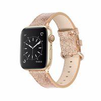 Slim Fit-Schleife für Designer-Apple-Uhr-Band-Leder-Band 40mm 44mm für iWatch 38mm 42mm Apfeluhrband Serie 5 4 3 2 1 IWATCH-Bänder