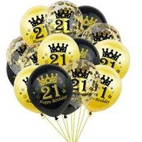 10pcs Crown Latex Globos 20 30 40 50 60 70 años de edad Aniversario de boda Decoraciones de fiesta decoración fiesta feliz cumpleaños globo