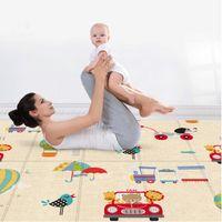 200 * 180 cm de espessura bebê brincar tapete decoração casa dobrável criança rastejando esteira impermeável design de dupla face crianças tapete de piquenique