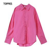 Toppies Mulheres 100% Camisas Escritório Senhora Longa Manga Blusa Único Breasted Chic Chic Tops