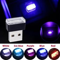 Interior&External Lights Mini LED Car Light USB Atmosphere Colorful Ambient Decorative Lamp Emergency Lighting Portable Accessories