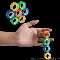Novità EDC Finger Fidget Spinner Anello Unzip Braccialetto Braccialetto Fingertip Rotante Spinner Gyro Stress Rilievo Spinner Magnetico Decompressione