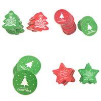 100шт рождественские бирки бумага красный зеленый подарок бирка рождественская вечеринка подвесные метки цена этикетки повесить бирки карты карты diy подарок 923 b3