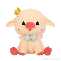 1 pc 40/50/60 cm dos desenhos animados cute rosa porco brinquedos de pelúcia enchido algodão kawaii coroa piggy travesseiro sofá almofada bonecas meninas garoto de aniversário garoto presentes