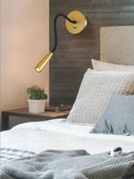 Wall Lamps O Flexible LED Book Light Lights Aluminum Base Mounted Bedside Reading Lamp Study Room Fixture