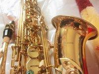 Marka Yeni Yanagisawa Alto Saksafon A-992 Altın Lake Alto Sax Profesyonel Ağızlık Yamalar Pedler Sazlık Viraj Boyun Ve Sabit Kutu