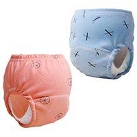 Pantaloni da allenamento per bambini Pantaloni Toilette Pannolini per bambini Bambino Cappellini per bambini Ragazzi Ragazze Riutilizzabili in cotone lavabile in cotone mutandine