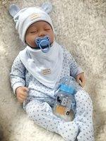 "22 ""/ 55cm Handmade Lifelike Reborn Baby Bonecas Realista Vinil Silicone Newborn Boy Boneca US"