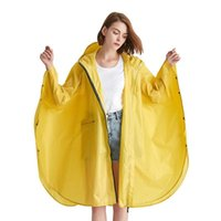 Yuding impermeable grande de moda para mujer con cremallera larga cremallera nylon raincape mujeres con capucha con capucha transpirable bicicleta jlyqa