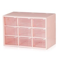 Storage Boxes & Bins Plastic Parts Box 9 Drawer Hardware And Craft Cabinet Wall Mount