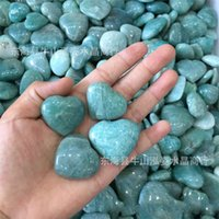 Vente en gros 5pcs Blue Amazonite Cœur Crystal Crystal Bijoux Coeur Faire Amazonite Heart De Mariage Retour Cadeau Cristal Guérison 619 S2