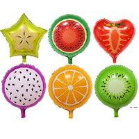 Mode Obst Formfolie Ballon Ananas Wassermelone Eisdonut Ballons Geburtstagsfeier Babyparty Dekoration HWB5544