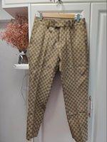 2020 Новая мода мужская платье пластырь счетчик деловые повседневные стройные костюмы брюки по всему узору высококачественные костюмы брюки свадебные брюки высокие т