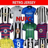 91 92 94 95 96 97 98 99 05 06 Newcastl Shearer Retro Soccer Jerseys Bellamy Hamann Pinas 1984 1997 Batty Asprilla United Owen Classic Vintage Jersey Football Shirts