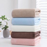 Towel Coral Fleece Solid Color 70x140cm Super Large Set High Absorbent Soft And Comfortable Bath For Adults Kids