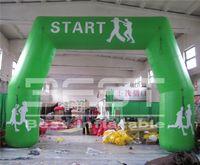 مخصصة الرياضة سباق نفخ مدخل بوابة 6M عرض الإعلان كبير نفخ القوس للأحداث في الهواء الطلق