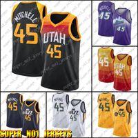 Utah.JazzJersey Donovan 45 Mitchell Jerseys John 12 Stockton Jersey Karl 32 Jerseys Malone Basquetebol Vintage Jersey ZXCB621A